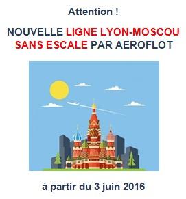 Vol direct Lyon-Moscou