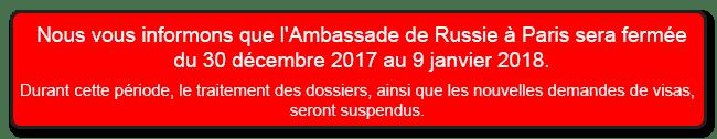 Fermeture Ambassade Paris